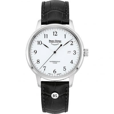 Mens Bruno Sohnle Hamburg I Big Watch 17-13201-921