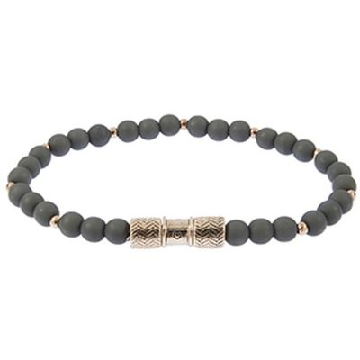 Icon Brand Herring Beaded Bracelet B1236-BR-GRY
