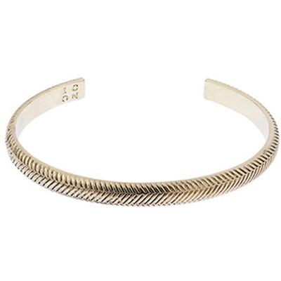 Bijoux Icon Brand HerBague Bone Cuff P1637-BR-GLD