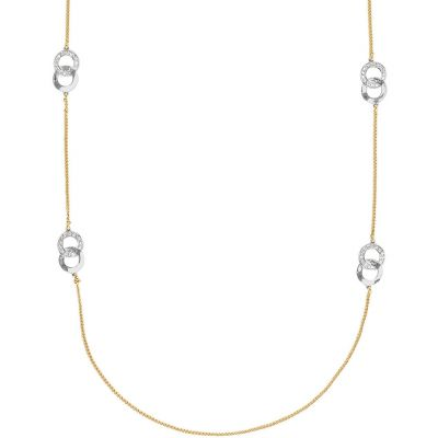 Adore Dames Interlocking Ring Long Necklace Basismetaal 5448614