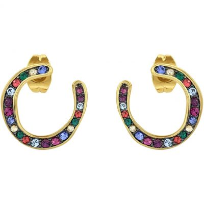 Adore Dames Organic Circle Hoop Earrings Basismetaal 5448667