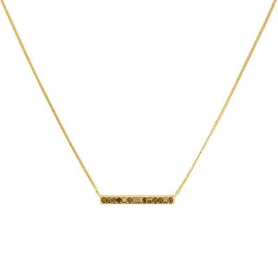 Adore Dames Baguette & Round Bar Necklace Basismetaal 5448682