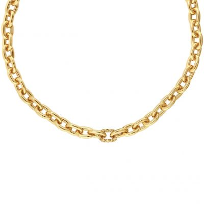 Adore Dames Lozenge Chain & Pave Necklace Basismetaal 5448750