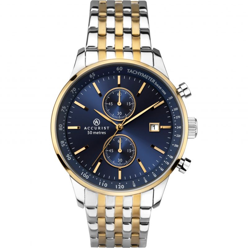 Mens Accurist Exclusive Chronograph Watch 7279 for £179.99
