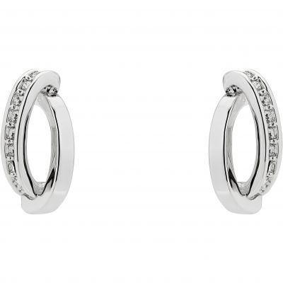 Karen Millen Jewellery Oval Pavé Chain Stud Earrings