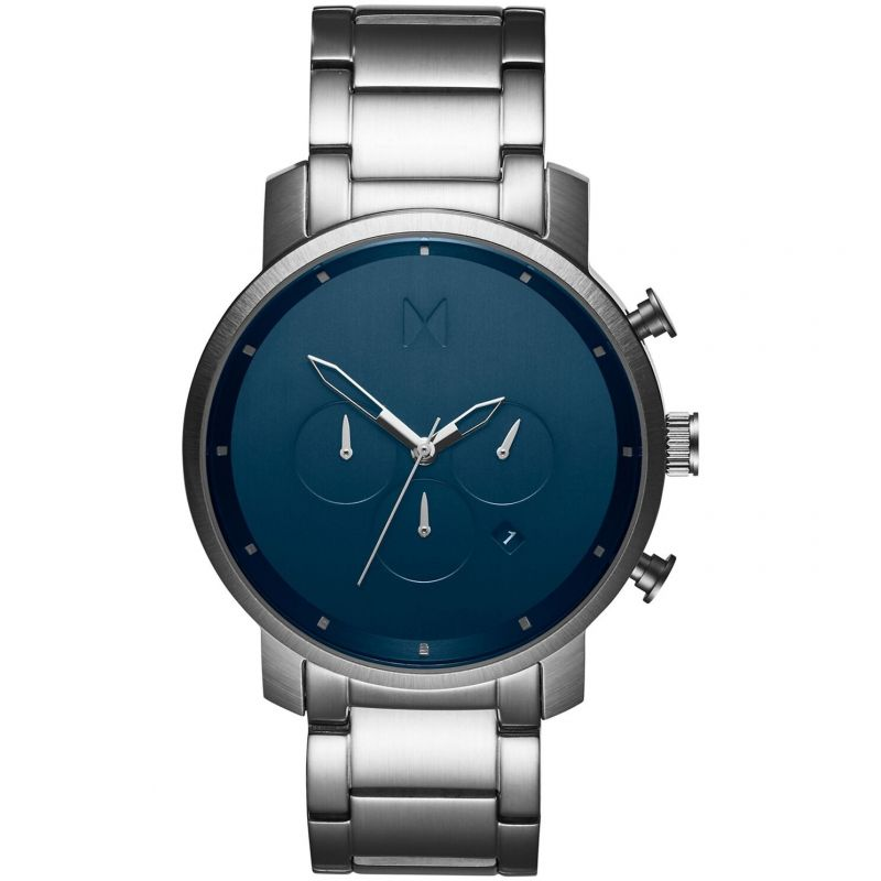 MVMT Midnight Silver Chrono Watch