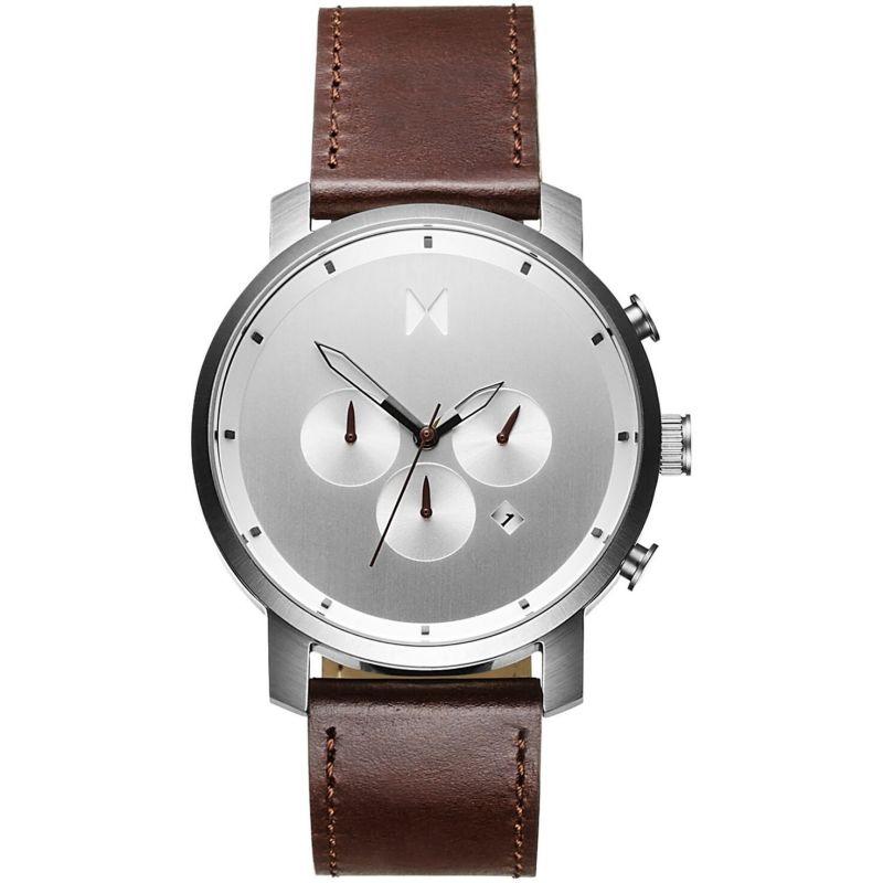 MVMT Silver Brown Chrono Watch MC01-SBRL