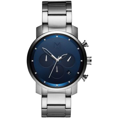 MVMT Midnight Silver Chrono 40 Watch MC02-SBLU