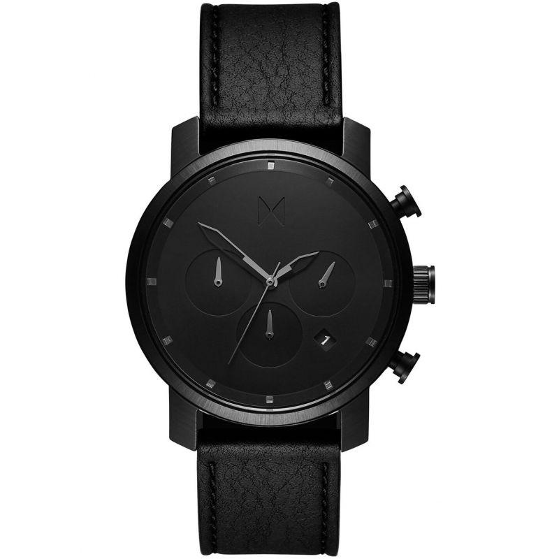 MVMT Black Leather Chrono 40 Watch