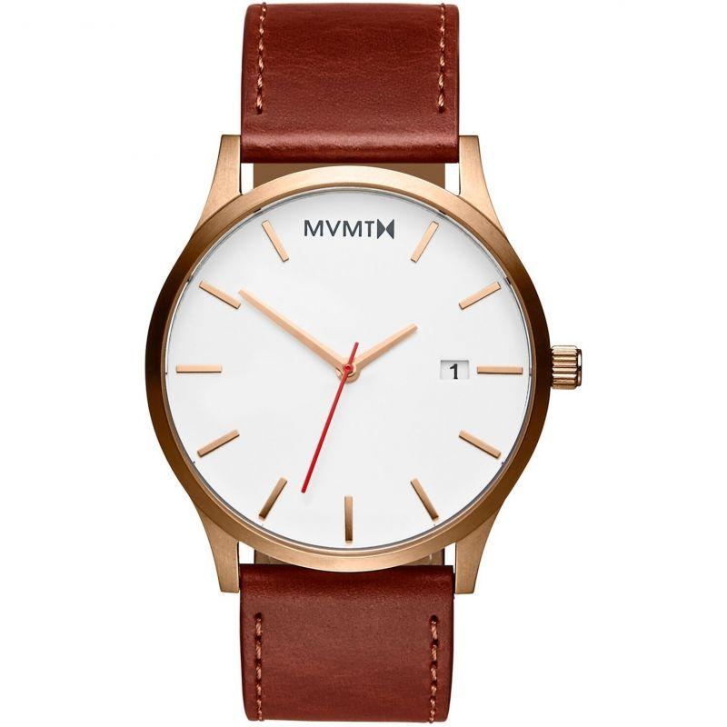 MVMT Rose Gold Natural Tan Classic Watch