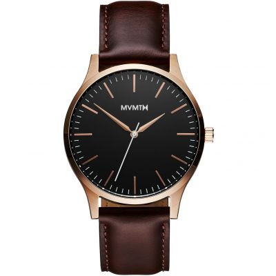 MVMT Rose Gold Brown 40 Series CLOCK MT01-BLBR