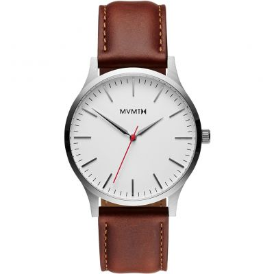 MVMT Silver Natural Tan 40 Series Watch MT01-SNA