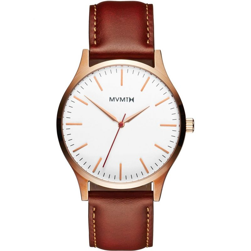 MVMT Rose Gold Natural Tan 40 Series Watch