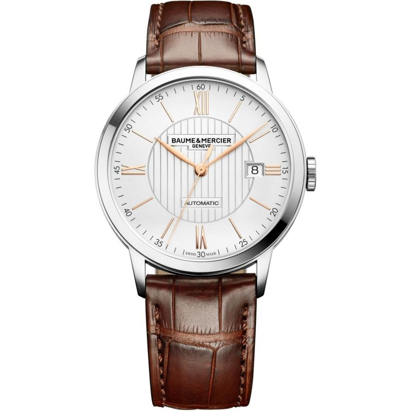 Mens Baume & Mercier Classima Automatic Date Watch M0A10263