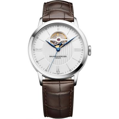 Mens Baume & Mercier Classima Open Heart Automatic Watch M0A10274