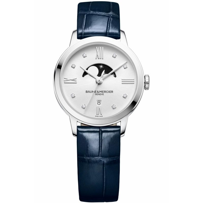 Ladies Baume & Mercier Classima Diamond Moonphase Watch