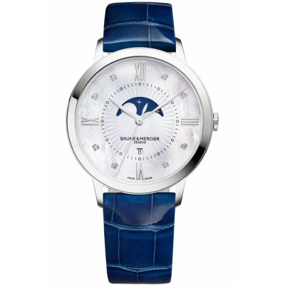 Ladies Baume & Mercier Classima Diamond Moonphase Watch M0A10226