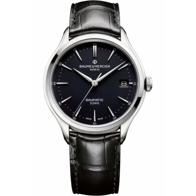 Mens Baume & Mercier Clifton Baumatic Automatic Date Watch M0A10399