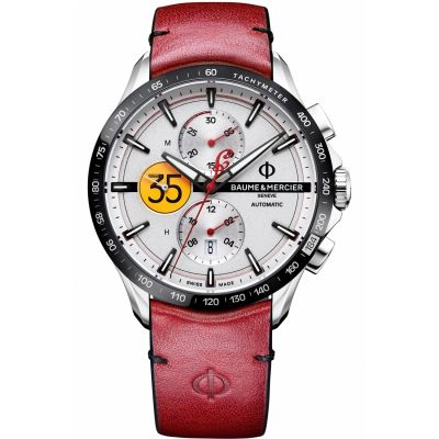 Baume & Mercier Clifton Club Indian Burt Munro Tribute Herrklocka Röd M0A10404