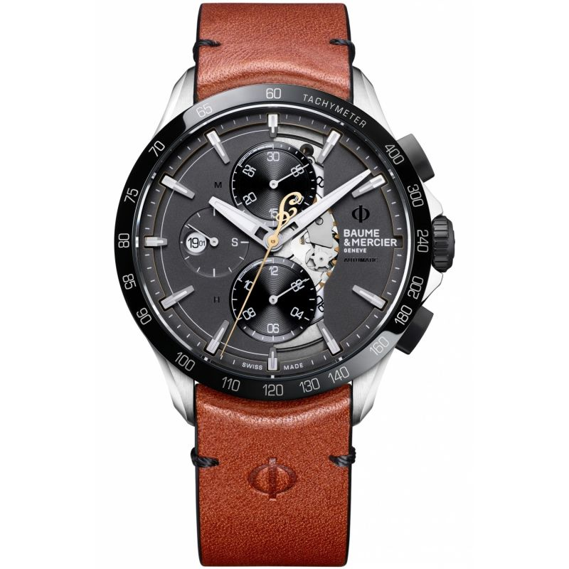 Mens Baume & Mercier Clifton Club Indian Limited Edition Automatic Chronograph Watch M0A10402