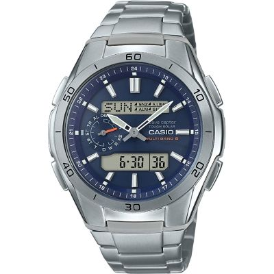 Mens Casio Alarm Chronograph Radio Controlled Watch WVA-M650TD-2A2ER