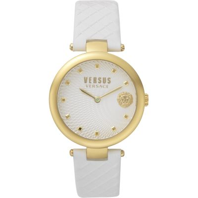 Montre Femme Versus Versace Buffle Bay Leather Strap Watch VSP870218