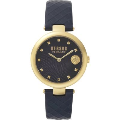 Montre Femme Versus Versace Buffle Bay Blue Dial On A Leather Strap Watch VSP870318