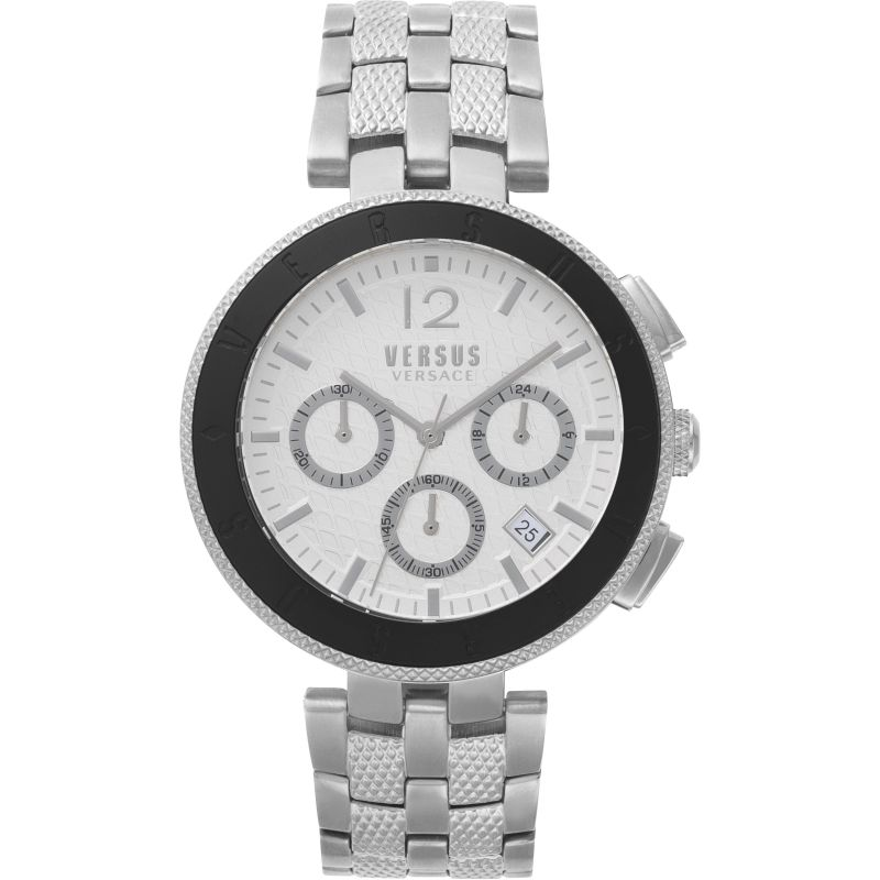 Gents Versus Logo Silver Dial On A Stainless Steel Bracelet Watch