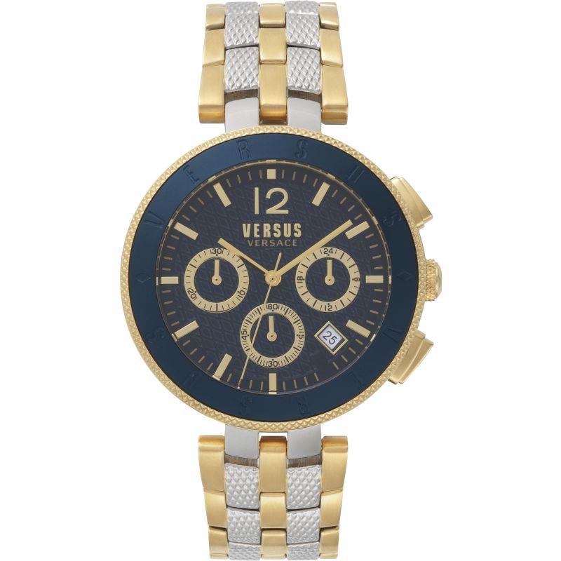 Gents Versus Logo Blue Dial Bracelet Watch