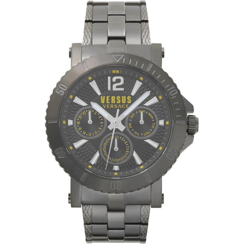 Gents Versus Steenberg Grey Dial On A Stainless Steel Bracelet Watch
