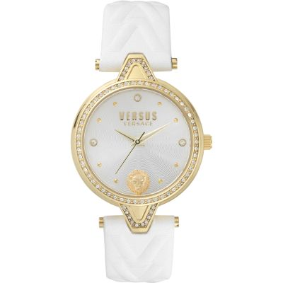 Montre Femme Versus Versace Crystal Silver Dial On A Leather Strap Watch VSPCI3117