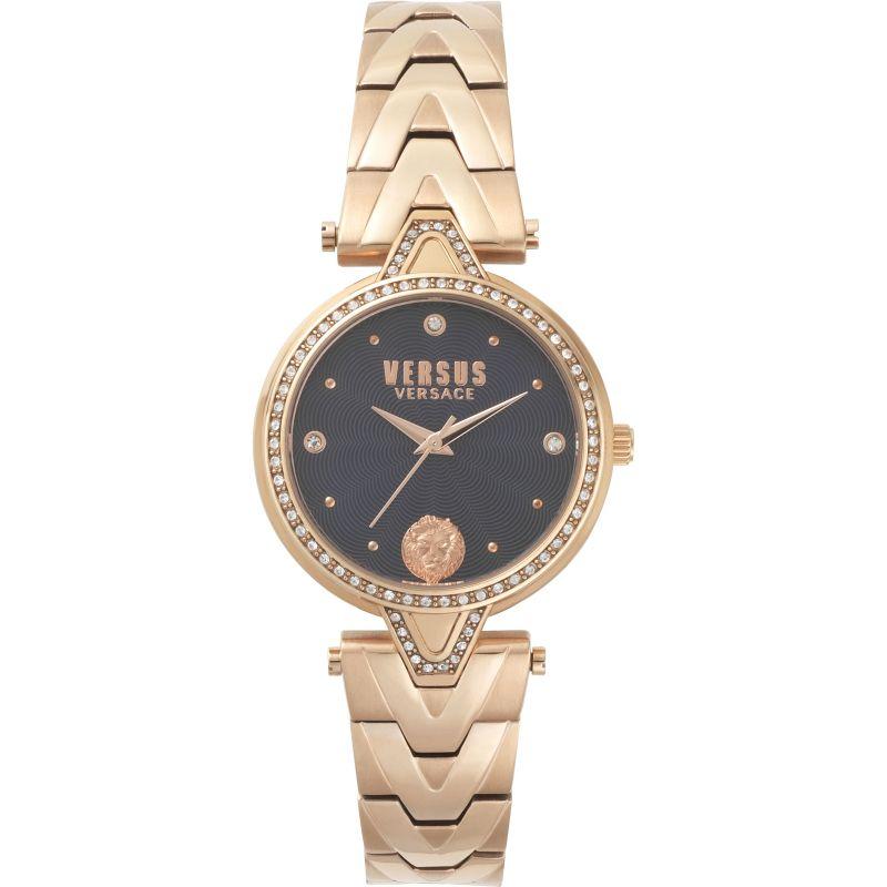 Ladies V Versus Crystal Blue Dial On Bracelet Watch