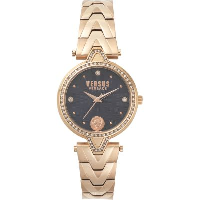 Ladies V Versus Crystal Blue Dial On Bracelet Watch