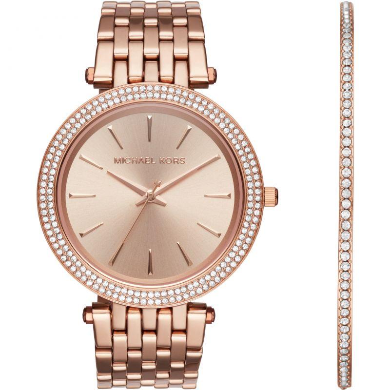 Michael Kors Darci Watch & Bracelet Gift Set