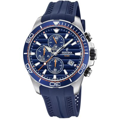 Festina Originals - The Tour Of Britain 2018 Herenchronograaf Blauw F20370/1