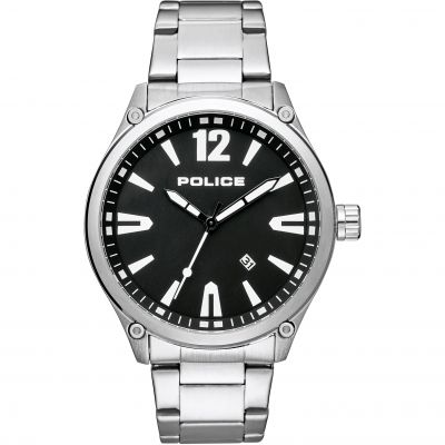Police Denton Herrenuhr in Silber 15244JBS/02M