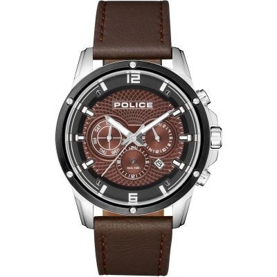 Police Shandon Herrenuhr in Braun 15525JSTB/12