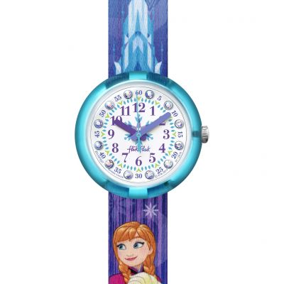 Flik Flak Friends & Heroes Disney Frozen Elsa & Anna Kinderuhr in Blau FLNP027