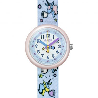 Flik Flak Colour Explosion Bubblicorn Kinderuhr in Blau FPNP030