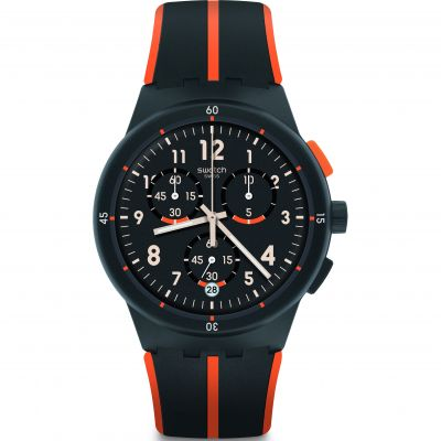 Swatch Chrono Plastic Laseray Herrenuhr in Grau SUSA402