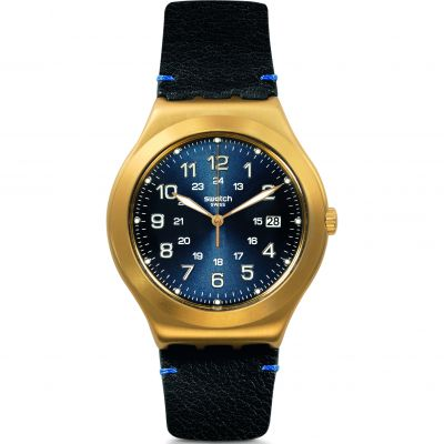 Swatch Happy Joe Rugged Happy Joe Golden Herrenuhr in Schwarz YWG408