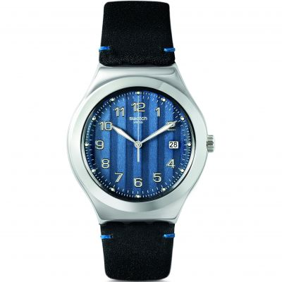 Swatch Happy Joe Rugged Côtes Blues Herrenuhr in Schwarz YWS438