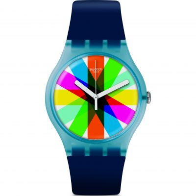 Swatch Think Fun Graftic Unisexuhr in Marine SUON133