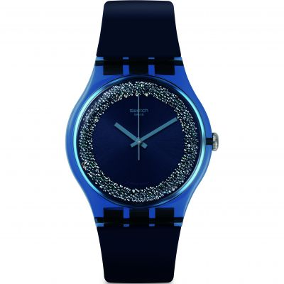Swatch Think Fun Blusparkles Damenuhr in Marine SUON134