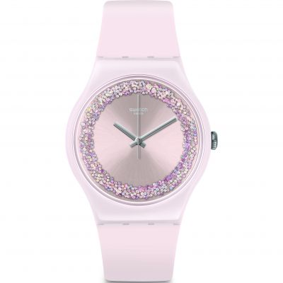 Swatch Think Fun Pinksparkles Damenuhr in Pink SUOP110