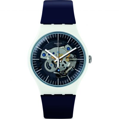 Swatch Think Fun Siliblue Herrenuhr in Blau SUOW156