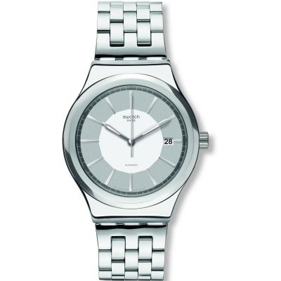 Swatch Sistem 51 Sistem Casual Herrenuhr in Silber YIS421G