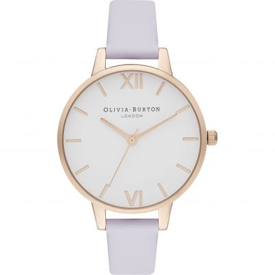 Demi White Dial Parma Violet & Pale Rg Watch