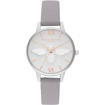 Olivia Burton 3D Bee Damenuhr in Grau OB16AM163