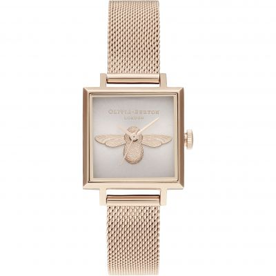 3D Bee Square Dial Blush Sunray & Pale Rg Watch